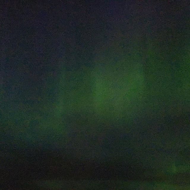 Murky iPhone photos can't do justice to the aurora borealis that drenched the night sky tonight. And I saw a frikkin bolide for the first time in my life.